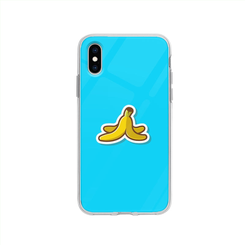 Coque Pelure De Banane pour iPhone XS - Transparent