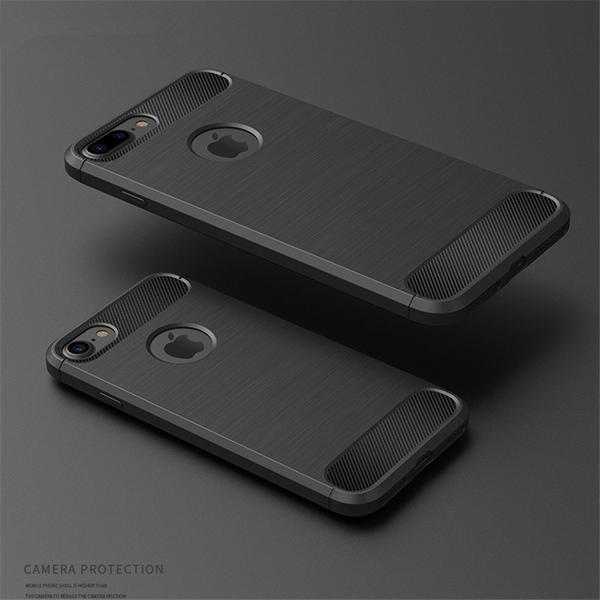 Coque reproduction carbone brossé anti traces d'empreintes pour iPhone XS