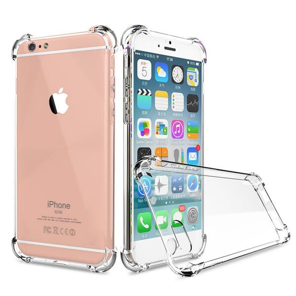 Coque transparente ultra slim à coins renforcés en silicone pour iPhone 7 Plus