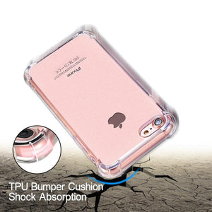 Coque transparente ultra slim à coins renforcés en silicone pour iPhone 7