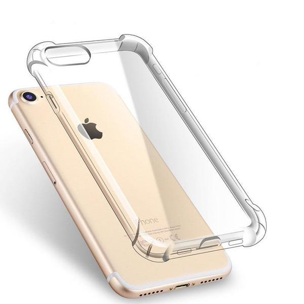 Coque transparente ultra slim à coins renforcés en silicone pour iPhone 8 Plus