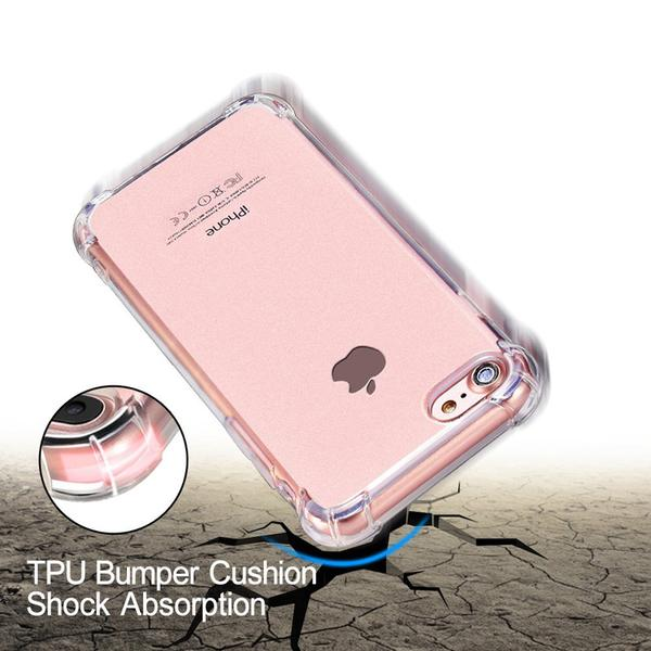 Coque transparente ultra slim à coins renforcés en silicone pour iPhone 8