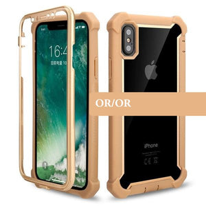 Coque ultra résistante de type armure robuste pour iPhone 6 Plus et iPhone 6S Plus de couleur Or Or