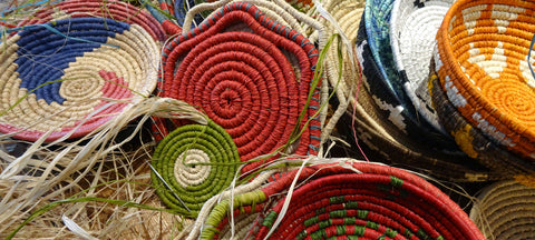 crafting raffia basket