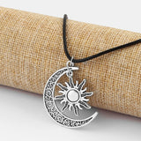 Hippie Bronze Silver Charm Pendant Necklace