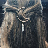 Cresent Moon Natural Stone Hairpin