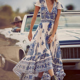 Vintage Boho Tassel Beach Dress