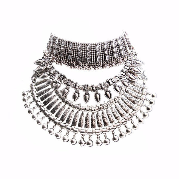 Vintage Silver Boho Necklace