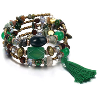Boho Beaded Crystal Bracelet