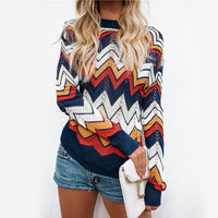 New 2018 Fall Rainbow Sweater