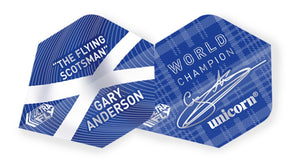 GARY ANDERSON ULTRA FLY.100 PLUS BLUE W/C FLIGHTS - Aussie Dart Supplies Online