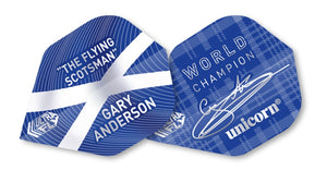GARY ANDERSON ULTRA FLY.100 BIG WING BLUE W/C FLIGHTS - Aussie Dart Supplies Online