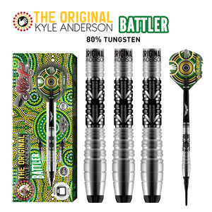 Shot Kyle Anderson Battler Soft Tip Dart Set-80% Tungsten Barrels