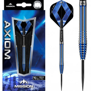 Mission Axiom Steel Tip Blue M3 Front Weighted Tungsten Darts Set