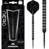 Mission Nero Steel Tip Black M2 Linear Ringed Tungsten Darts Set
