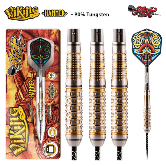 Viking Hammer Steel Tip Dart Set Front Weighted 90% Tungsten Barrels - Aussie Dart Supplies Online