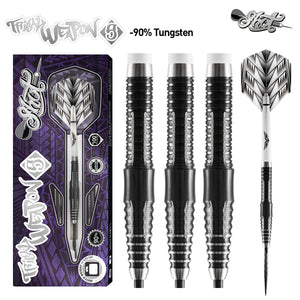 Shot Tribal Weapon Series 5 Darts Set Front Weighted 90% Tungsten Barrels