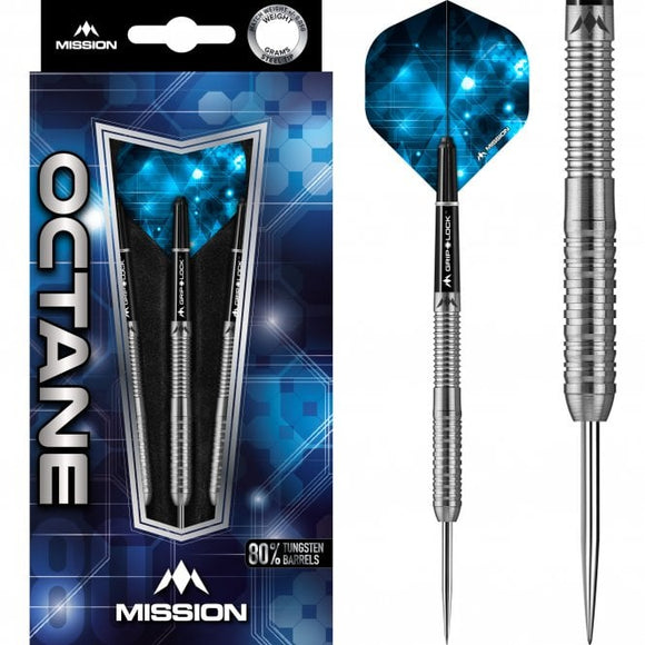 Mission Octane Darts Steel Tip M3 Rear Ring Grip