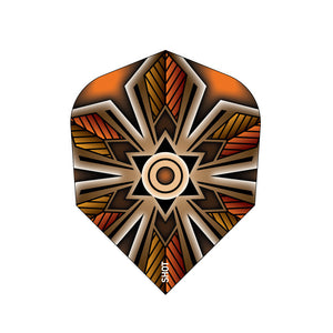 Talisman Amber Small Standard 100 Micron Flights - Aussie Dart Supplies Online