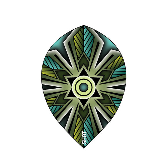 Talisman Teal Teardrop 100 Micron Flights - Aussie Dart Supplies Online