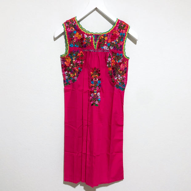 Hot Pink with Yellow and Aqua Multi Antonia II Sleeveless Dress (Small)