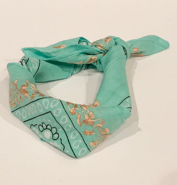 Neck scarves with San Antonino Embroidery (Assorted colors)