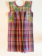Plum Plaid/Multi Sleeveless Antonia Dress (Small)