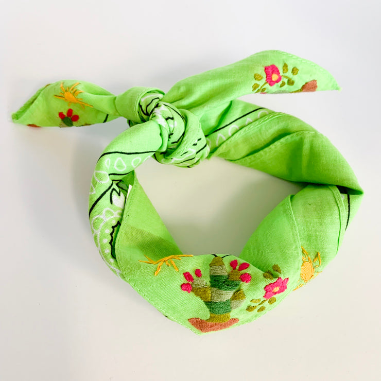Neck scarf with Cactus (Assorted Colors)