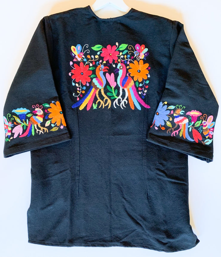 Kimono Jacket with Otomi Embroidery (Birds/Butterflies)