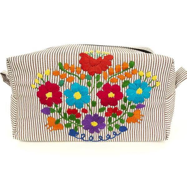 Large Cosmetic Bag Pinstripe/Multi (Assorted Colors)