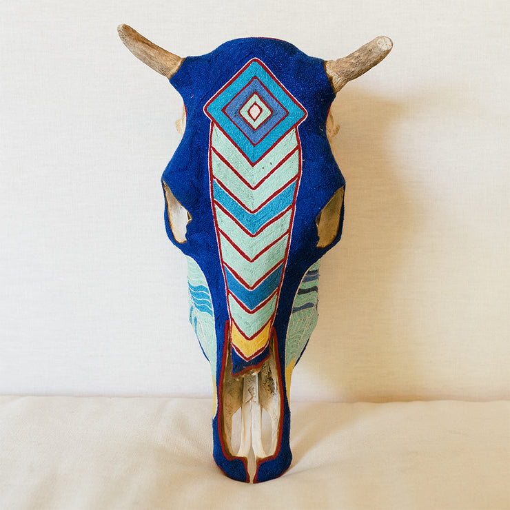Huichol Skull Decor for Home or Office