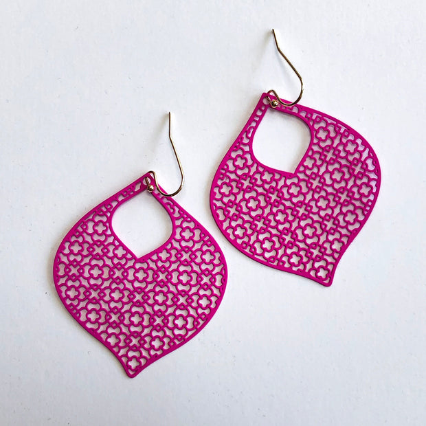 Hot Pink Aladdin Earrings