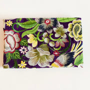 Yoko Clutch with Yellow Flowers (Dark purple)