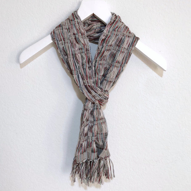 Chalina Scarf Grey and White
