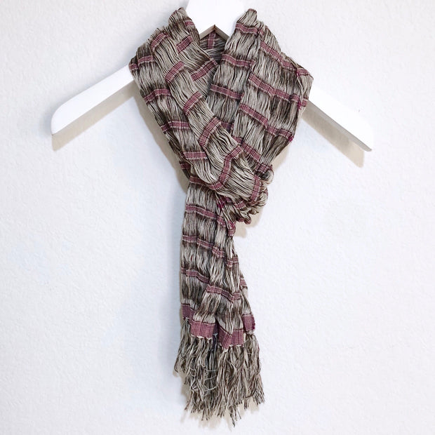 Chalina Scarf Burgundy and Brown