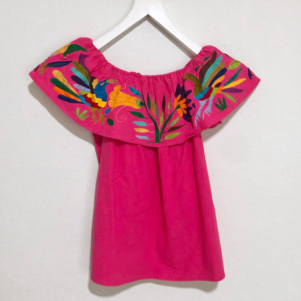 Off-the-Shoulder Otomi Blouse Nativa (Pink/Multi)