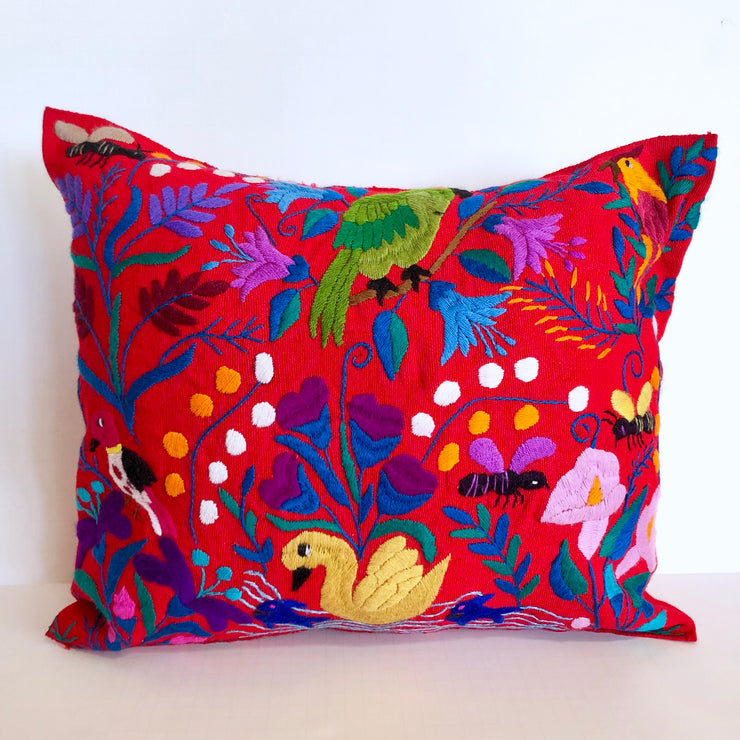 Red Chiapas Pillow