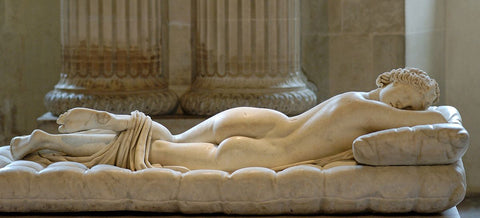 A statue of Hermaphrodite in the Louvre