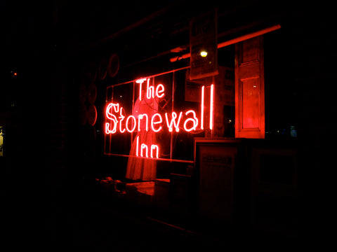 Picture by yosoynuts on flickr, stonewall in neon sign image