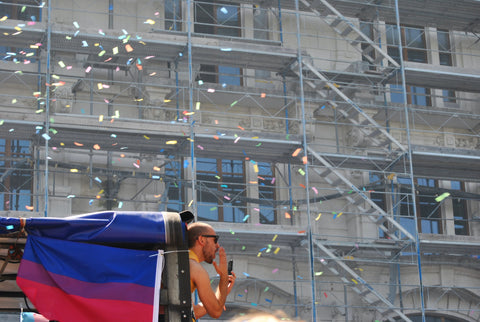 bisexual flag on truck image by Delia Giandeini