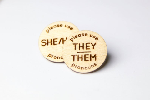 transgender pronoun pins