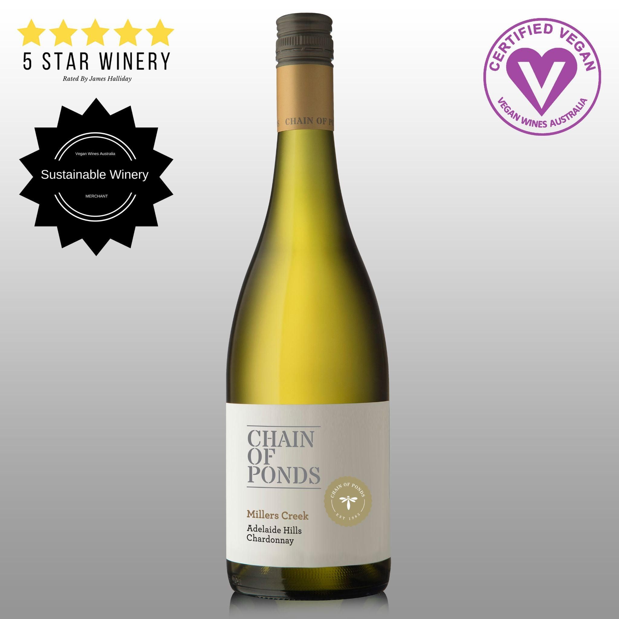 Chain of Ponds Adelaide Hills Range 2017 Miller's Creek Chardonnay - 6 Pack