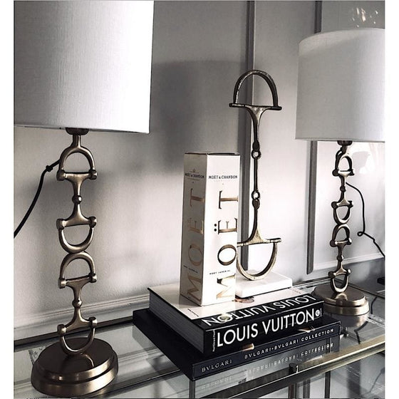 Adamsbro Snaffle Bit Lampstand 50 cm Silver - 50 cm / Silver - Lamp Stand