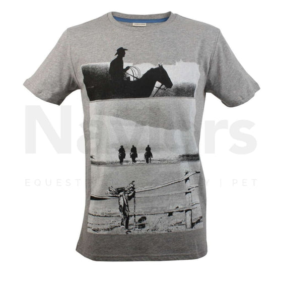 Horseware Boy's and Men's Grey Melan T-Shirt - t shirt