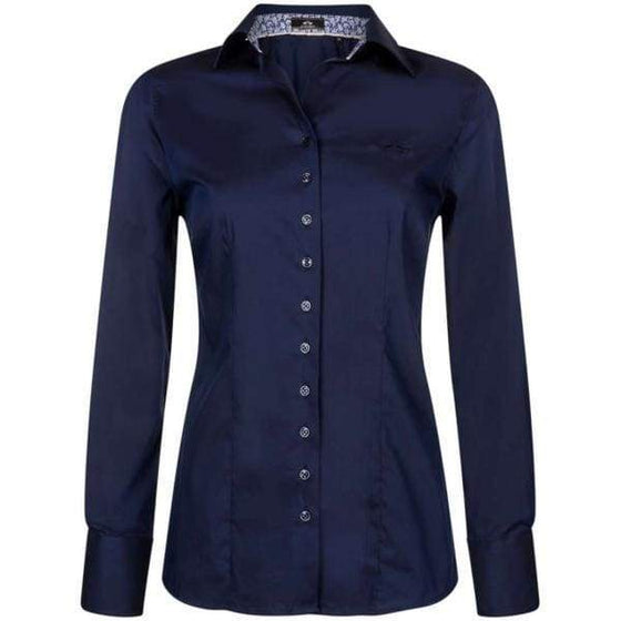HV Polo Blouse Abbey Navy - XXL / NAVY - Ladies Shirt