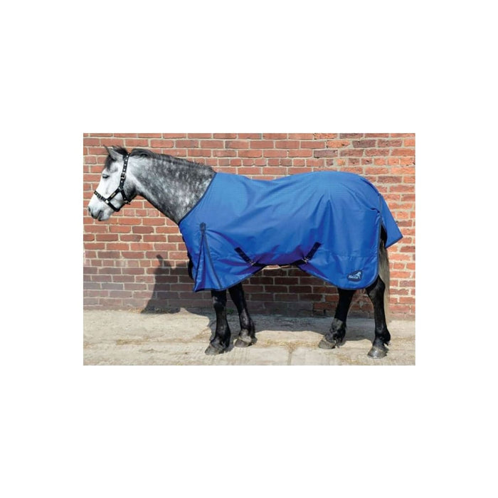 Masta Basic Turnout Lightweight Rug Standard Neck Blue - Horse Rug