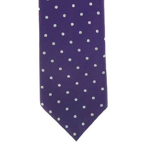 Show Tie Adult Purple & Silver - Ties
