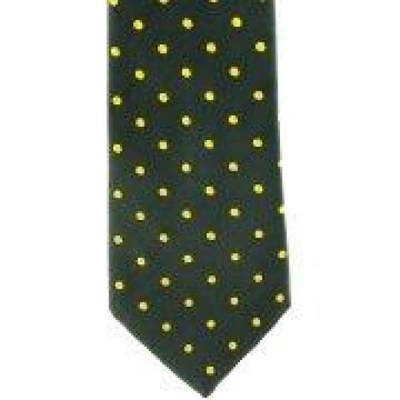 Showquest Adult Tie Green & Gold