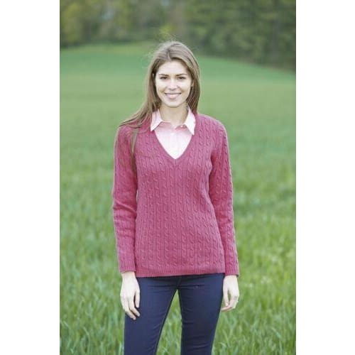 Toggi Ladies Opal V Neck Jumper Gerbera Pink - Ladies Jumper