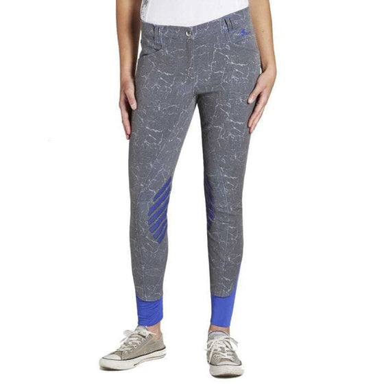 Tottie Burgess Ladies Knee Grip Tie Dye Breeches - Ladies Breeches